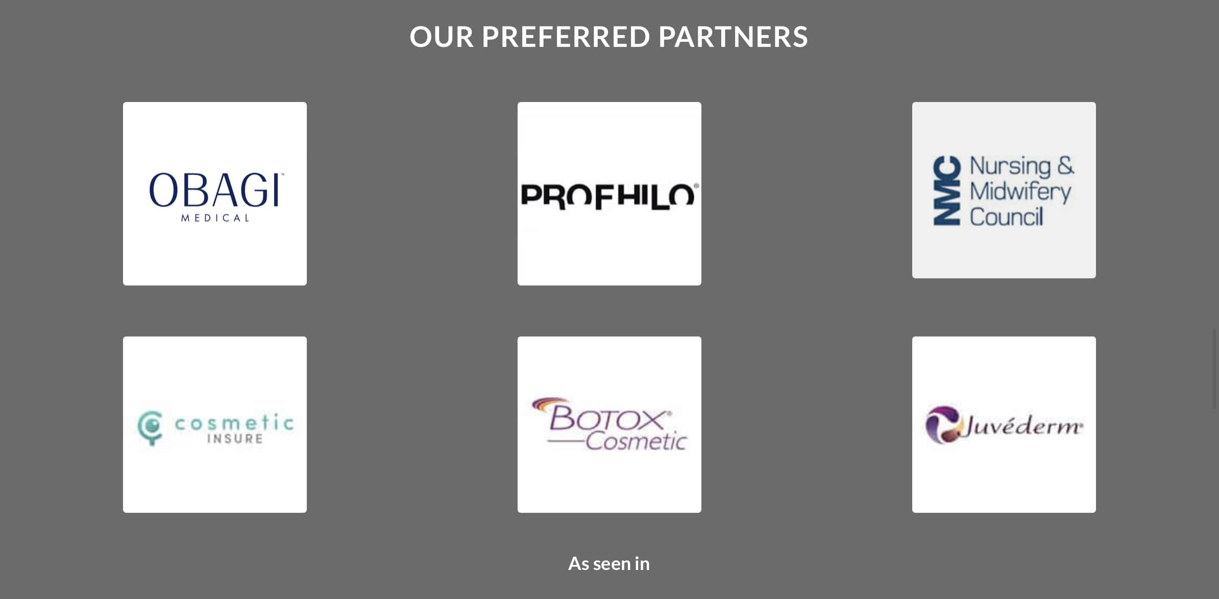 Austin Brewer Facial Aesthetics Preferred Partners Obagi Profhilo NMC Cosmetic insure Botox Juvederm